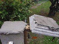 Concrete Post Cap Plans : Applying the Mortar
