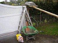 Concrete Post Cap Plans : Mixing the Mortar