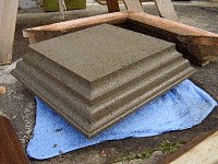 Concrete Post Cap Plans : Concrete Cap Mold Off