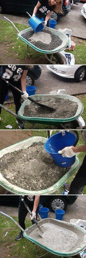 Concrete Seat Plan : Concrete Process