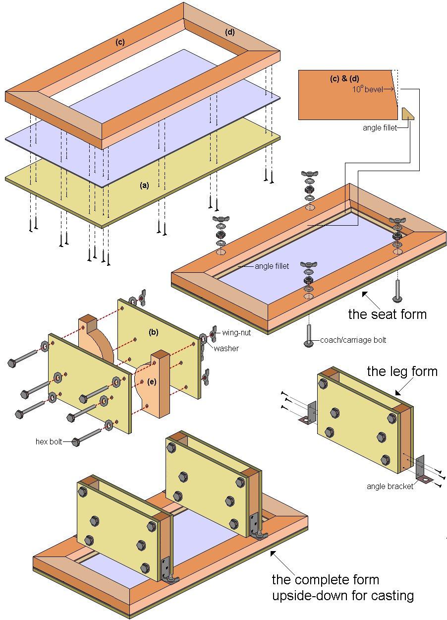 Concrete Seat Plan : Schematics