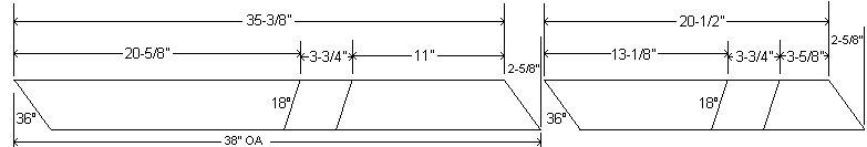 Cross-Leg Legs Dimensions – Imperial