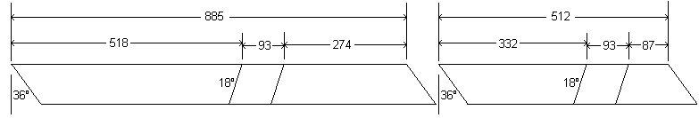 Cross-Leg Legs Dimensions – Metric
