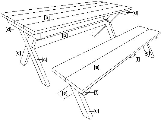 Cross-Leg Table Schematics