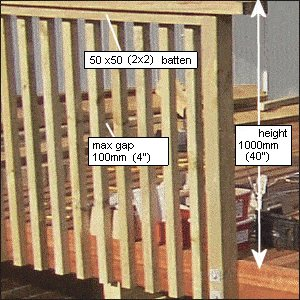 Deck with Handrail and Steps : Handrail Picture