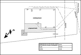 Deck with Handrail and Steps : Site Plan