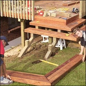 Deck with Handrail and Steps : Step Lift