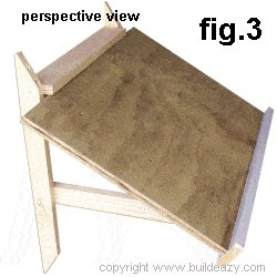 Wall Mounted Drawing Desk Plans : Perspective View