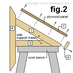 Wall Mounted Drawing Desk Plans : Side Plan