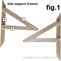 Wall Mounted Drawing Desk Plans : Side Support Frames