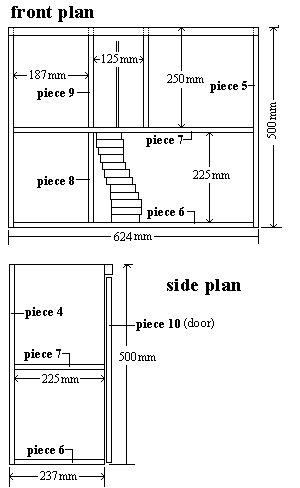 Dollhouse : Assembling the Walls, Floors and Doors - Metric Version