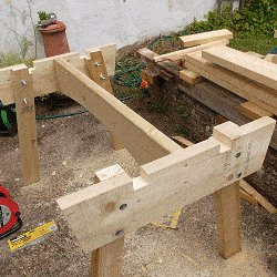 Extendable Picnic Table : Cut Notches for the Extension Runner