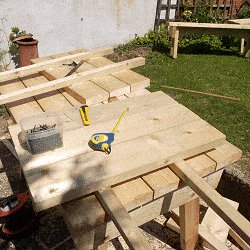 Extendable Picnic Table : Finishing Making the Extensions
