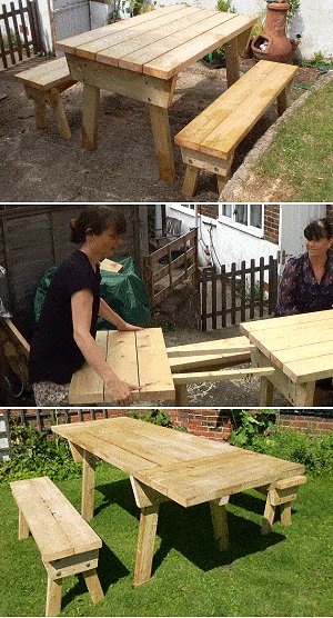 Extendable Picnic Table : Stages