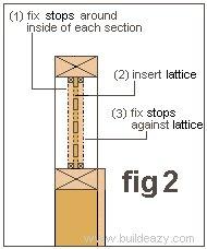 Board and Lattice Fence : Fitting the Lattice
