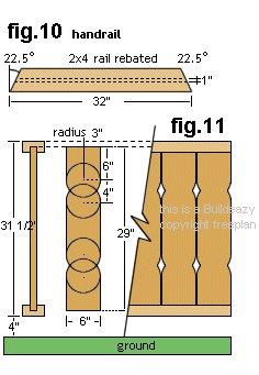 Gazebo Plan : Handrail Boards - Imperial Version