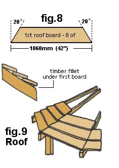 Gazebo Plan : Laying the Roof Boards - Imperial Version
