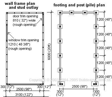 Shell Only Single Garage : Flat Plan