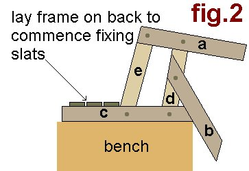 Simple Garden Chair : Lay Frame on Back to Comence µFixing Slats