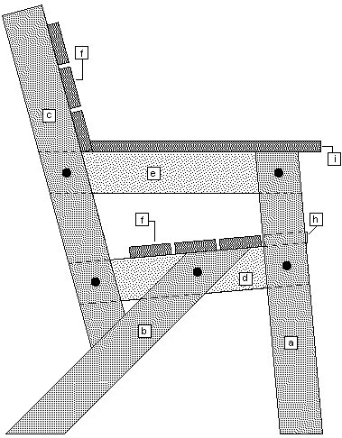 Simple Garden Chair : Part Identification