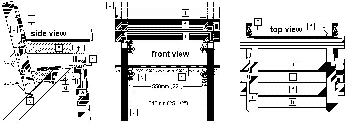 Simple Garden Chair Sections Plans
