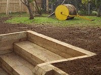 Garden Steps : Add Top Soil and Grass Seed