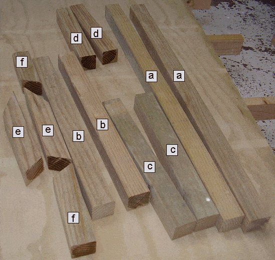 King Chair Plans : Frame Pieces