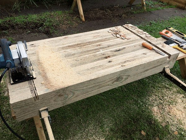 Interlocking Garden Bed Box : Make Cuts Along the Cut-Out Area