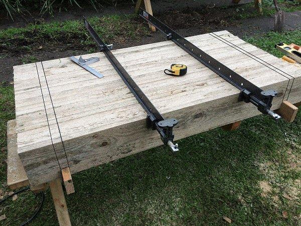 Interlocking Garden Bed Box : Prepare and Mark the Opposite Side