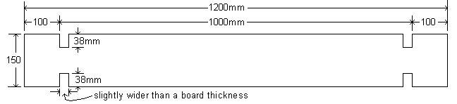 Interlocking Garden Bed Box : Boards Plans - Metric Version