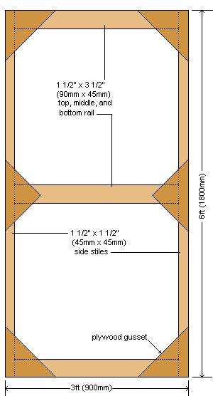 Greenhouse Door Plan