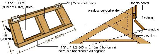 Greenhouse Window Detail