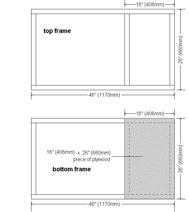 Guinea Pig Hutch Plans : Top and Bottom Frame