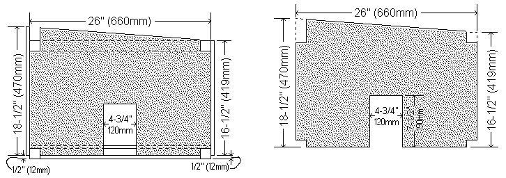 Guinea Pig Hutch Plans : Internal Wall