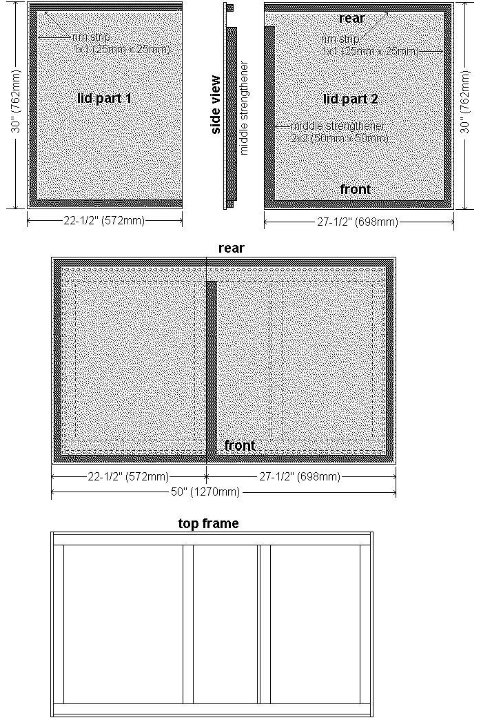 Guinea Pig Hutch Plans : The Lid Plans View