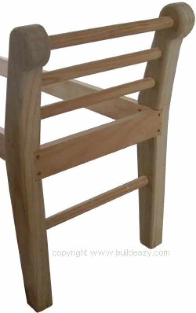 Hall or Bed End Bench : Fix the End Rails in Place