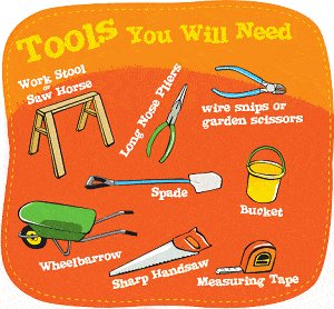 Elf Cave Illustration: Tools You Will Need