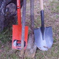 Concrete Gate Post : hole digging equipment
