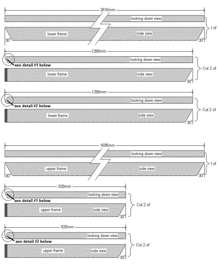 Hexagonal Table With Seating Plan : Frame spoke cutting list - Metric Version