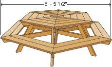 Hexagonal Table Width - Imperial Version