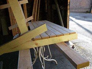 Bench Seat Plans : Fix the Interùediate Back-Rest Slats