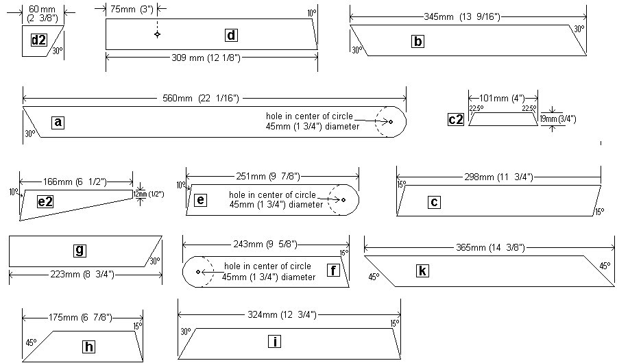 Kids' 2 in 1 Bench and Picnic Table Plan :  Individual Frame Pieces