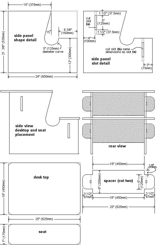 Kid's Desk Plans