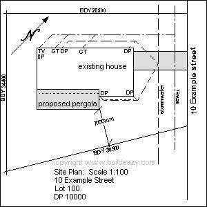Lean-To Pergola : Site Plan