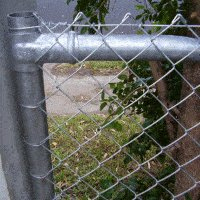 mesh and pipe fence mesh post tie