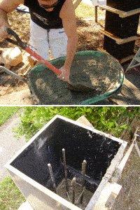 Concrete Gate Post : mix and pour concrete