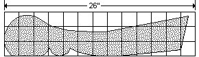 Old Style Park Bench Plan : Grid Spacing - Imperial Version