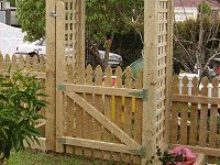 Picket Gate Plan : Fix the Gate in Place