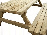 Traditional Picnic Table Plans : Fix the Intermediate Boards