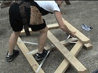 Traditional Picnic Table Plans : Remove the end Frame